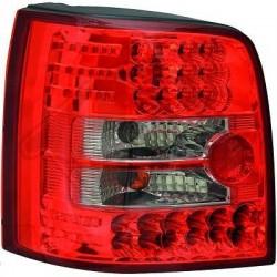 LAMPY TYLNE LED VW PASSAT 3B VARIANT 96-00 CZERWONE / PRZEŹROCZYSTE