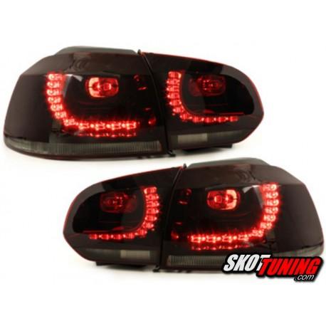 LAMPY TYLNE LED VW GOLF VI 08+ CZERWONE/DYMIONE R-LOOK