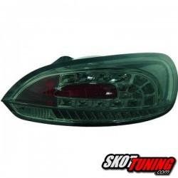 LAMPY TYLNE LED VW SCIROCCO 08-14 CHROM / DYMIONE + KIERUNKOWSKAZ LED