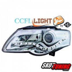 REFLEKTORY CCFL VW PASSAT 3C B6 05-10 CHROM