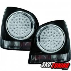 LAMPY TYLNE LED VW POLO 9N 3+5D 01-09 CZARNE