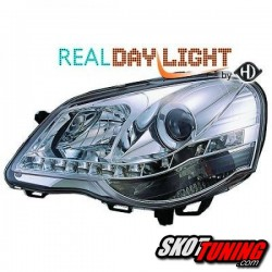 DRL REFLEKTORY VW POLO 9N3 05-09 CHROM