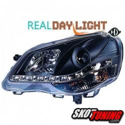 DRL REFLEKTORY VW POLO 9N3 05-09 CZARNE