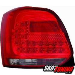 LAMPY TYLNE LED VW POLO 6R 09-14 CZERWONE / DYMIONE