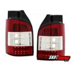 LAMPY TYLNE LED VW T5 03+ CZERWONE / PRZEŹROCZYSTE