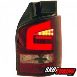 LAMPY TYLNE LED VW TRANSPORTER T5 03-09 CZERWONE / DYMIONE Z KIERUNKOWSKAZEM LED