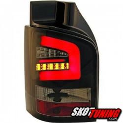 LAMPY TYLNE LED VW TRANSPORTER T5 03-09 CZARNE / DYMIONE Z KIERUNKOWSKAZEM LED