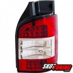 LAMPY TYLNE LED VW T5 03-09 CZERWONE / PRZEŹROCZYSTE