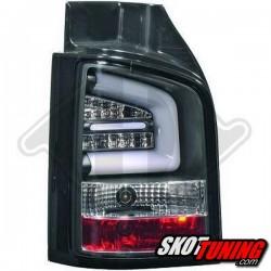 LAMPY TYLNE LED VW TRANSPORTER T5 2009-2015 CZARNE Z KIERUNKOWSKAZEM LED