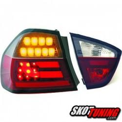 LAMPY TYLNE LED BMW E90 SEDAN 05-08 CZERWONE / DYMIONE LIGHTBAR