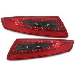 LAMPY TYLNE LED PORSCHE 911/997 04-08 CZERWONE/DYMIONE