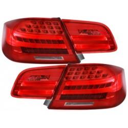LAMPY TYLNE LED BMW E92 COUPE  05-09 CZERWONE / PRZEŹROCZYSTE
