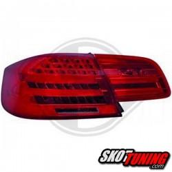 LAMPY TYLNE LED BMW E92 COUPE  05-09 CZERWONE / DYMIONE