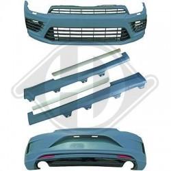 ZESTAW OSPOILEROWANIA VW SCIROCCO 15+ R-LOOK