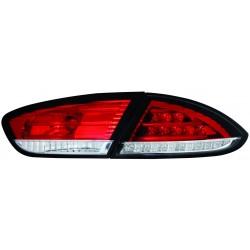 LAMPY TYLNE LED SEAT LEON 1P1 09-12 CZERWONE / PRZEŹROCZYSTE