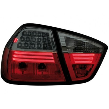 LAMPY TYLNE LED BMW E90 SEDAN 05-09.08 CZERWONE/DYMIONE