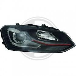 LAMPY PRZEDNIE Volkswagen Polo 3/5 DRZW 09-14 CZARNE