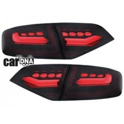 LAMPY TYLNE LED carDNA AUDI A4 B8 8K SEDAN 07+ CZERWONE / DYMIONE