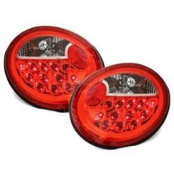 LAMPY TYLNE LED VW NEW BEETLE 98-05 CZERWONE / PRZEŹROCZYSTE