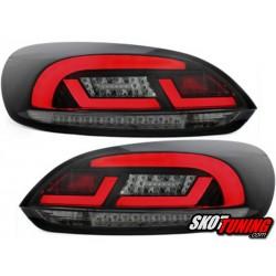 LAMPY TYLNE LED Litec VW SCIROCCO III 08+ CZARNE / DYMIONE