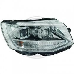 LAMPY PRZEDNIE REFLEKTORY DRL VW T6 15+ CHROM DYNAMICZNY KIERUNKOWSKAZ LED