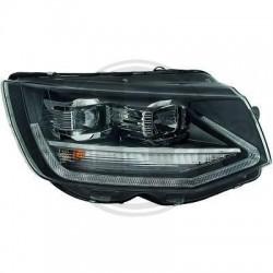 LAMPY PRZEDNIE REFLEKTORY DRL VW T6 15+ CZARNE DYNAMICZNY KIERUNKOWSKAZ LED