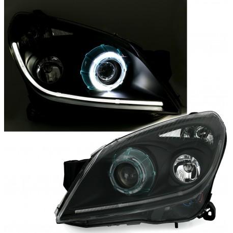 LAMPY PRZEDNIE REFLEKTORY OPEL ASTRA H 04-09 CZARNE XENON