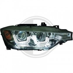 DRL REFLEKTORY BMW 3 F30 / F31  11-15 CZARNE